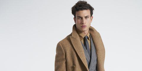 Clothing, Brown, Bag, Fashion, Khaki, Outerwear, Overcoat, Coat, Beige, Footwear,