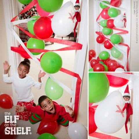 elf on the shelf balloon blockade