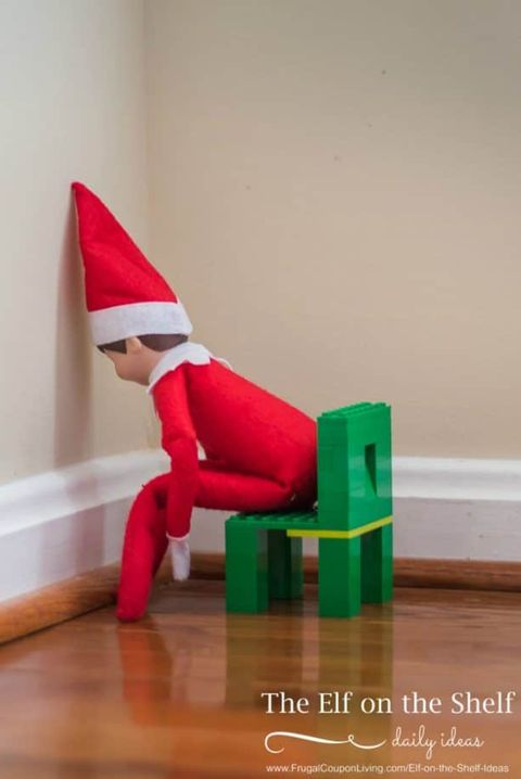 Elf on Shelf Ideas Time Out
