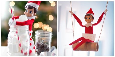 elf on the shelf ideas - Christmas Shelf Decorations