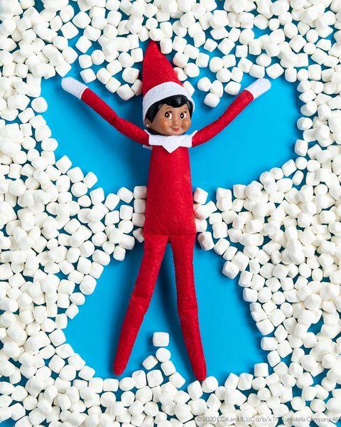 elf on the shelf ideas snow angel