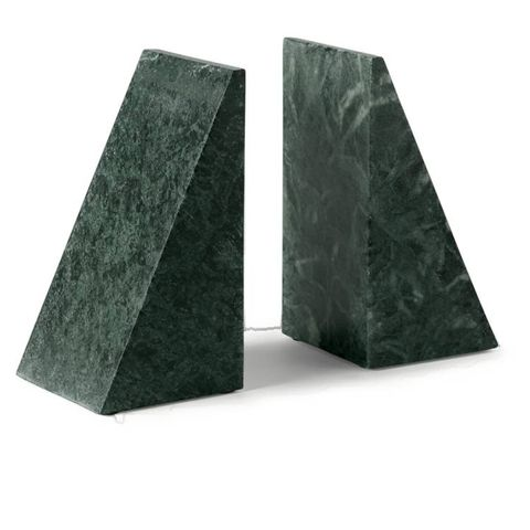 elisa  4 beoordelingen elisa set van 2 boekensteunen van marmer, groen