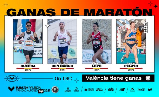 los españoles inscritos en el maratón de valencia 2021 que son favoritos