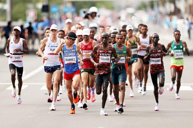 los atletas del maratón olímpico de tokio 2020