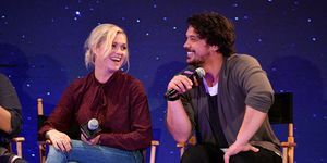 Eliza Taylor and Bob Morley in October 2018
