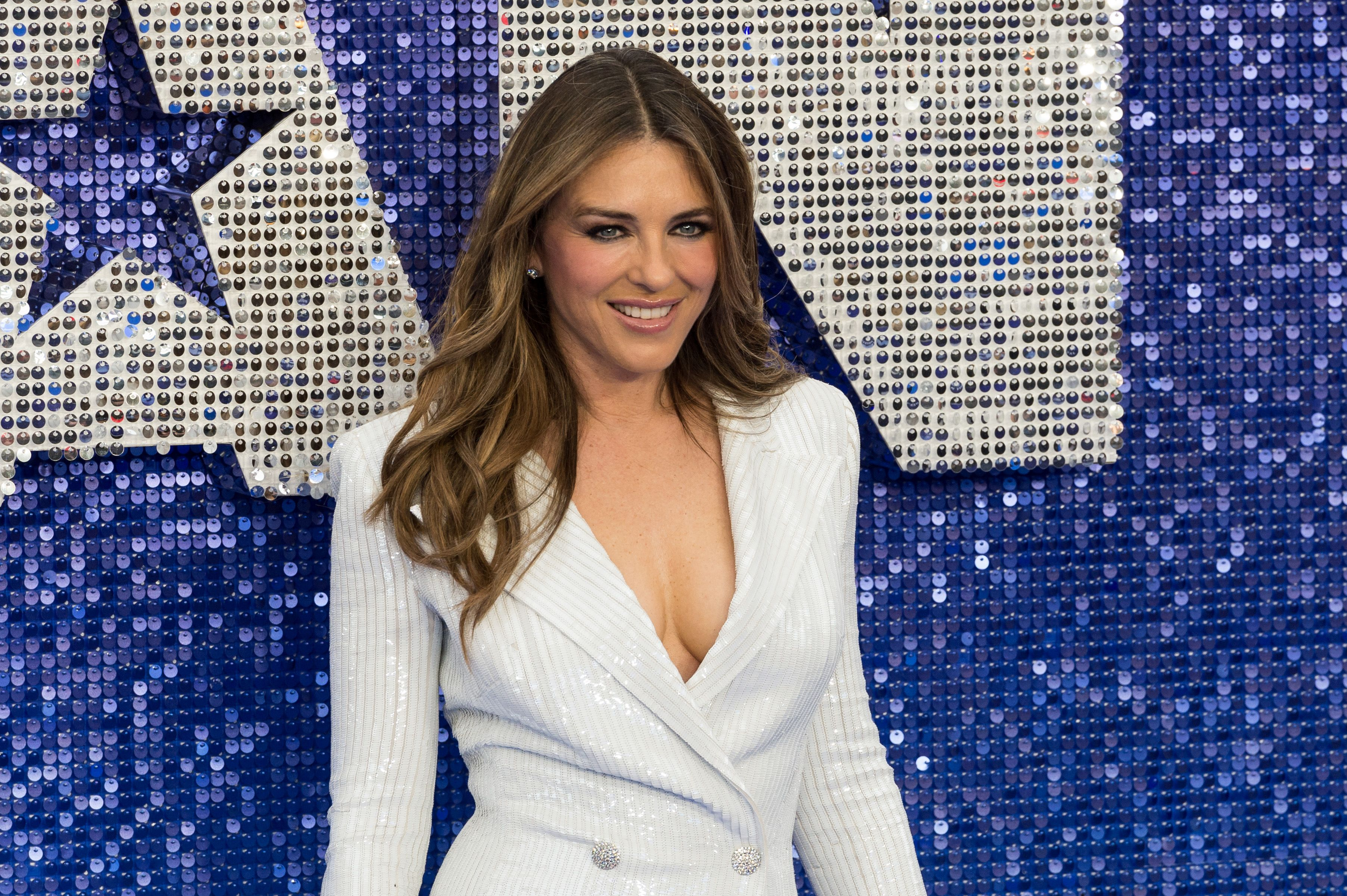 Elizabeth Hurley Looks Totally Naked Lounging In The Pool In New Instagram Photo