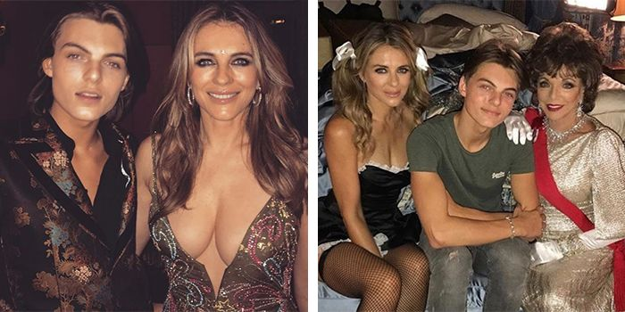 aa7f743383217 Elizabeth Hurley's Instagrams With Her Son Are Causing a Stir Online
