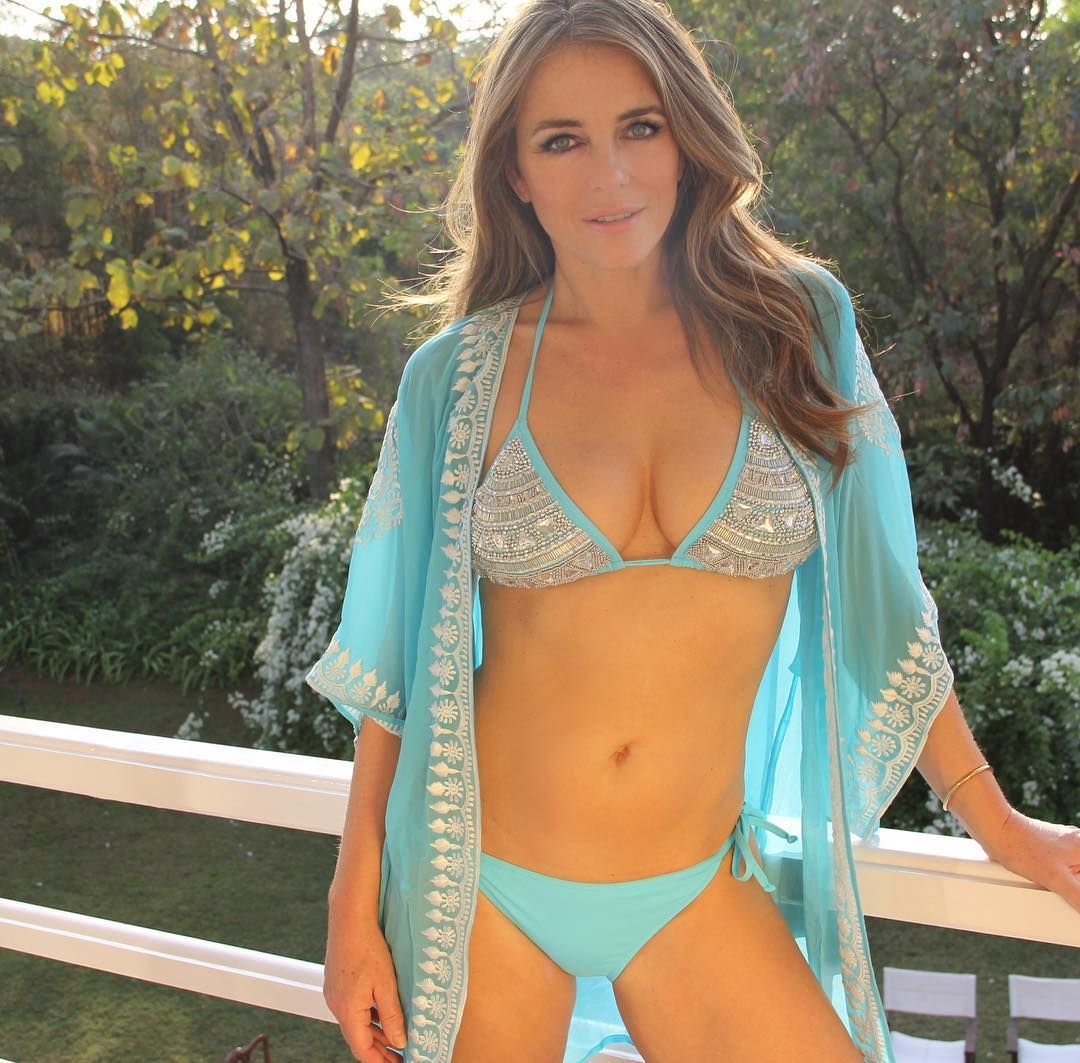 0c686c9b6c2 Elizabeth Hurley Wears Teal Blue Bikini In New Hot Instagram Photo