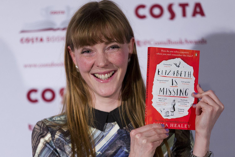 Emma Healey with her novel Elizabeth is Missing