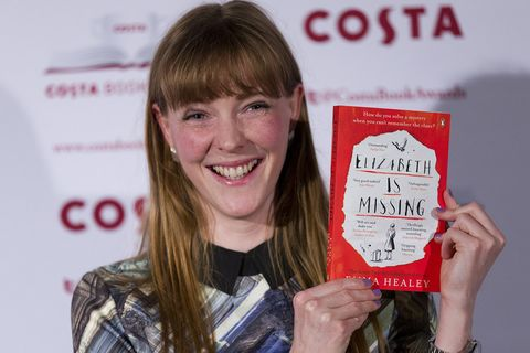 Emma Healey with her novel Elizabeth is Missing