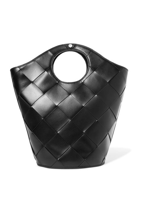 Black, Bag, Handbag, Fashion accessory, Leather, Black-and-white,