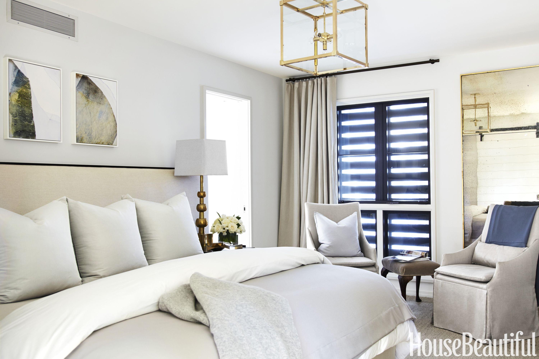 Elizabeth Kennedy Gray Master Bed