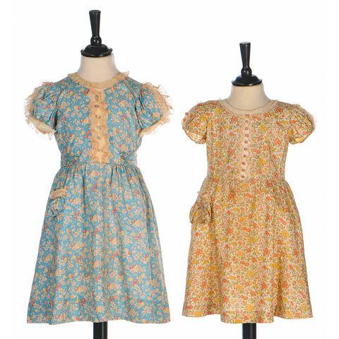 Dresses worn by Princess Margaret and Queen Elizabeth