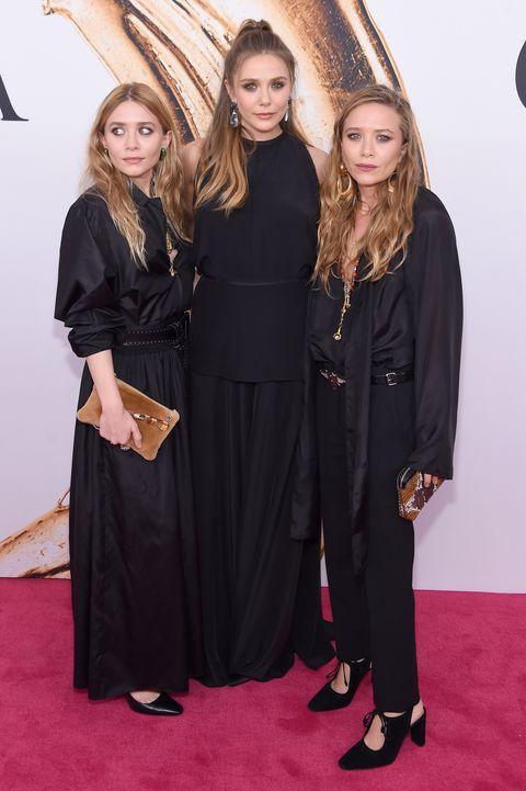 ashley, elizabeth and mary kate olsen at the 2016 cfda fashion awards