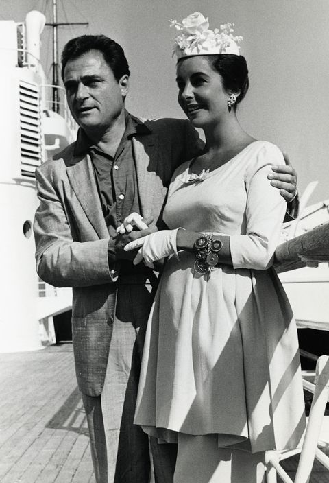 mike todd and elizabeth taylor arriving home