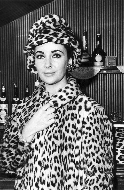 Elizabeth Taylor tendencia abrigo leopardo