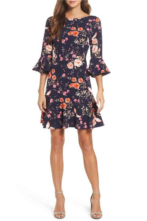 86654f2d88 Courtesy Nordstrom. Eliza J Bell Sleeve Flounce Dress. $82.80 (originally  $138). SHOP NOW. 5 of 32. Nordstrom. Courtesy Nordstrom. Tory Burch Painter  Iris ...