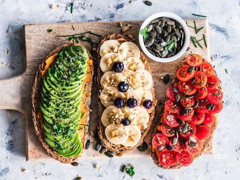 Food, Dish, Bruschetta, Cuisine, Ingredient, Vegetarian food, Vegan nutrition, Vegetable, Produce, Finger food,