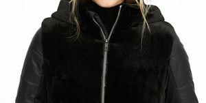 abrigo plumifero negro termico teriopelo barato oysho
