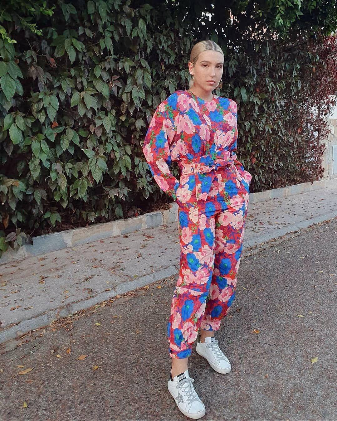 Alba Díaz con la chaqueta oversize de cuadros de Zara del otoño