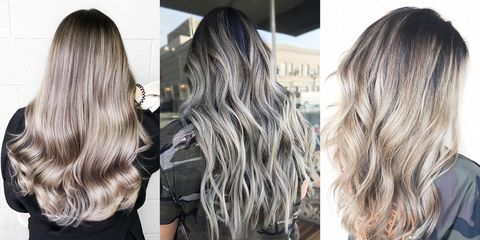 Ash Grey Ombre Hair