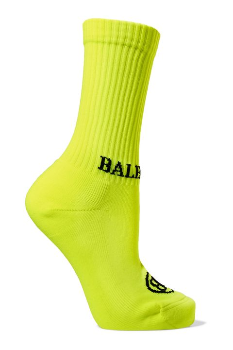 Green, Sock, Yellow, Footwear, Shoe, Fashion accessory,