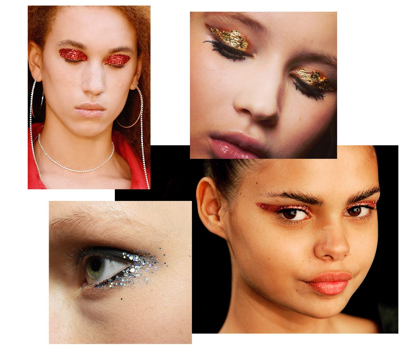 Women with different eye-lid shade trends