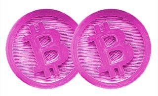 pink bitcoin
