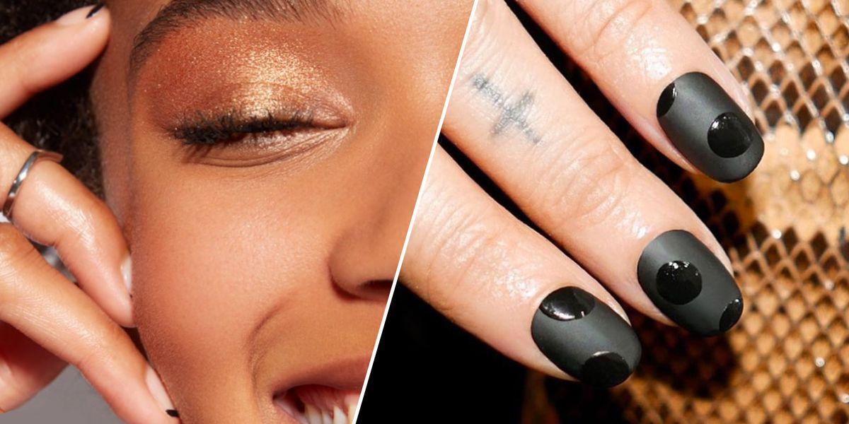 10 Matte Black Nail Designs - Easy Matte Black Nail Art ...