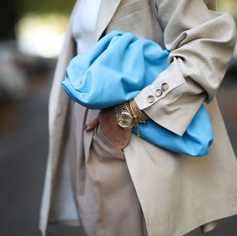 Blue, Street fashion, Turquoise, Fashion, Electric blue, Snapshot, Outerwear, Footwear, Turquoise, Hand,