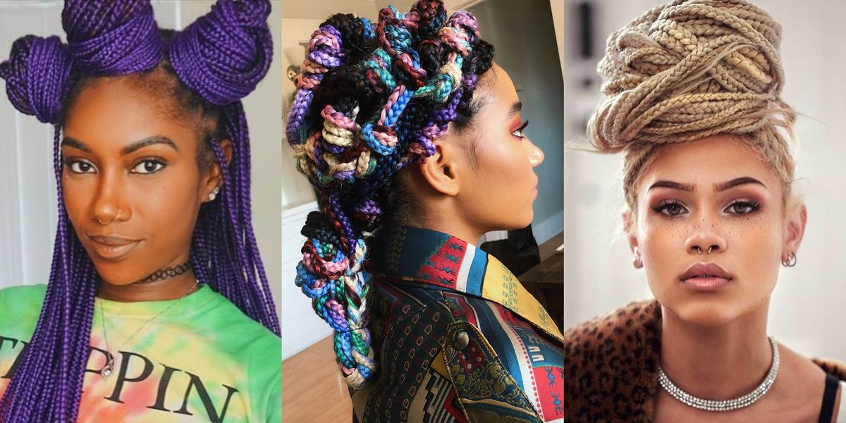 14 Different Ways To Wear Box Braids