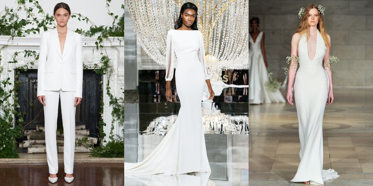 25 simple wedding dresses from fall 2018 bridal week junglespirit Images
