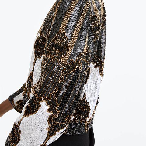 White, Clothing, Fashion, Outerwear, Shoulder, Neck, Sleeve, Photo shoot, Fashion design, Model,