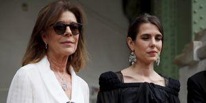 Carlota Casiraghi y Carolina de Mónaco de Chanel en el homenaje póstumo a Karl Lagerfeld