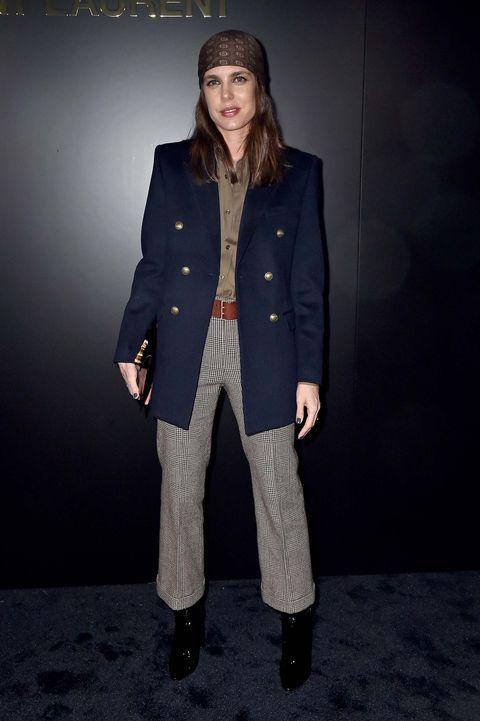 Carlota Casiraghidesfile Saint Laurent Paris Fashion Week
