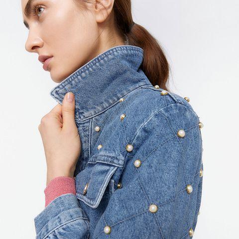 Denim, Clothing, Jeans, Blue, Pocket, Shoulder, Outerwear, Button, Sleeve, Textile,