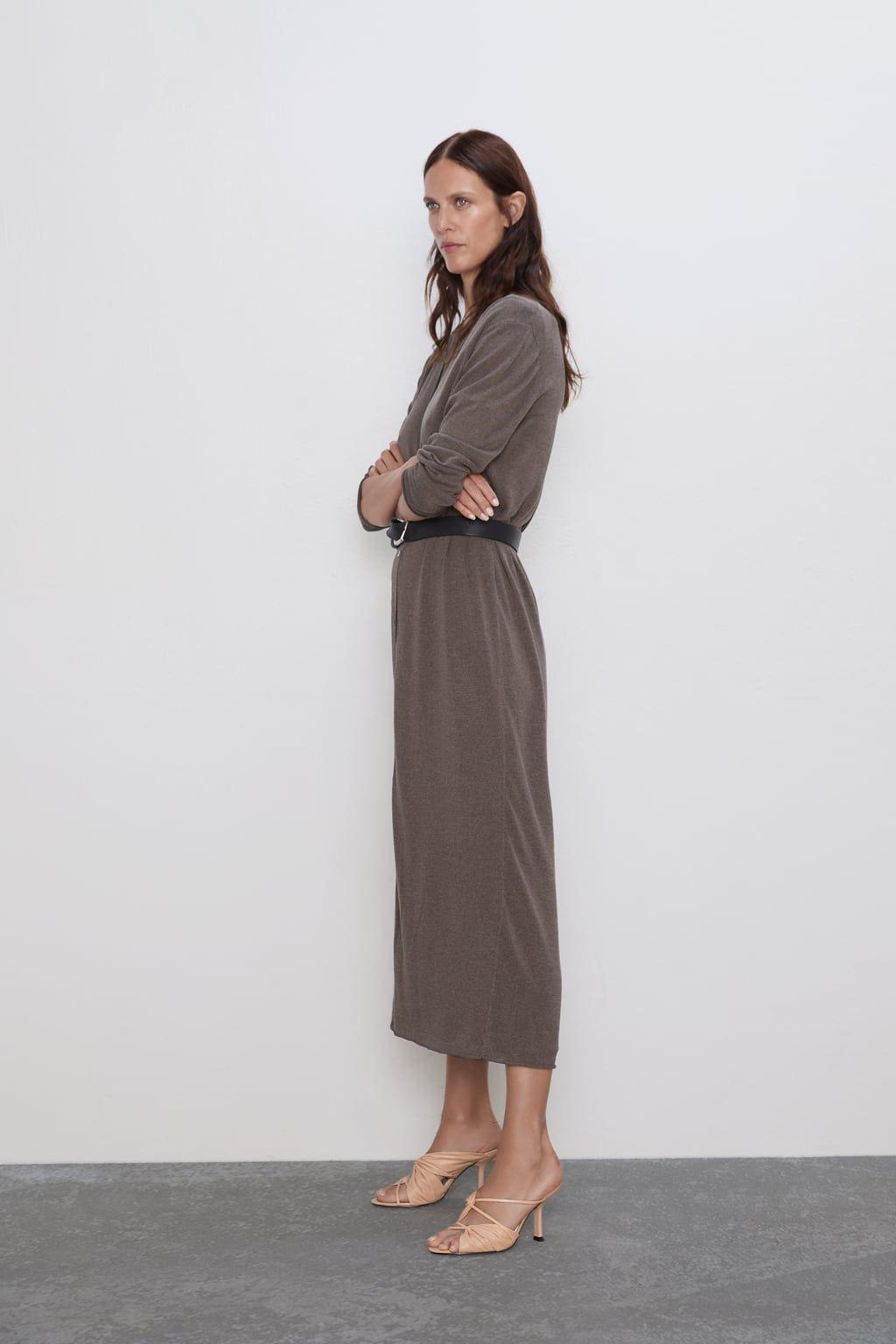 Vestido largo y chaqueta de Zara Zara ropa de tendencia otoño