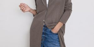 vestido chaqueta larga barata Zara