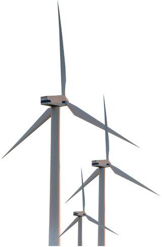 windmills, wind turbines