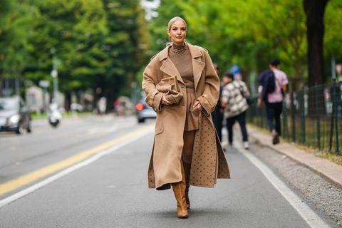 como combinar un abrigo camel total look