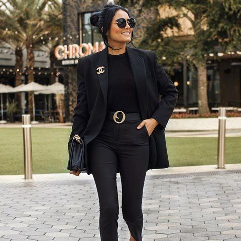 vestir de negro diferente instagram