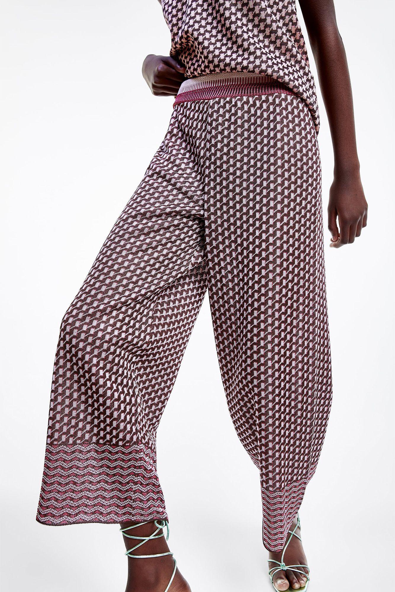 conjunto top y pantalon zara
