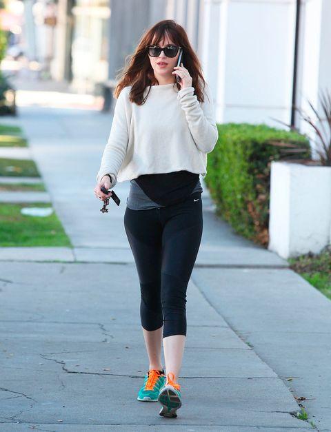 Dakota Johnson y sus looks con leggings