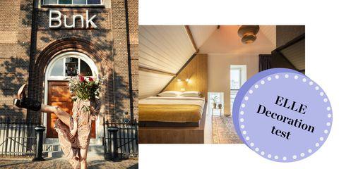 In onze nieuwe rubriek ELLE Decoration test slapen we deze week in BUNK hotel: een voormalige kerk.