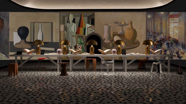 La lounge Arti Visive dell'Elle Decor Grand Hotel 2020