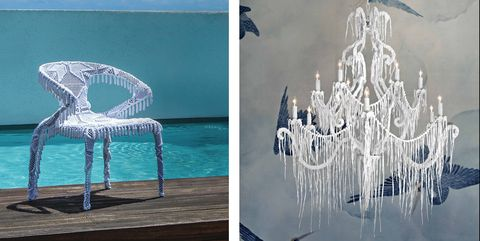 Blue, Water, Furniture, Chair, Architecture, Table, Art, Sculpture,