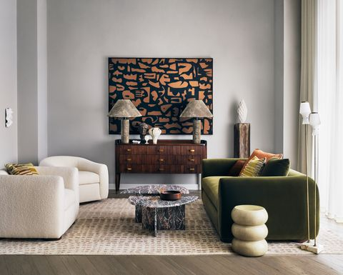 elle decoration londonewcastle penthouse living room