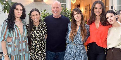 Bruce Willis y Demi Moore pasan lacuarentena con sushijas en pijama