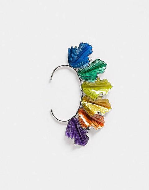 los mejores ear cuffs pendientes tendencia modelo arcoiris asos