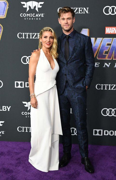 Chris Hemsworth y Elsa PatakyVengadores: Endgame estreno alfombra roja